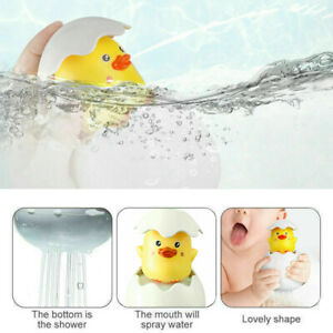 Baby Bath Toy Duck Egg Water Spray Sprinkler Shower Swimming Bathing Toy Fun Toy