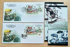 2004 Malaysia Traditional Transportation 2 Mini-Sheets Stamps on 2 FDC