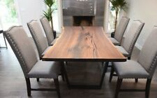 Solid Black Walnut Live Edge Dining Table