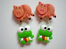 Clog Shoe Charms Button Plug Holey Accessories WristBand Frog Pig