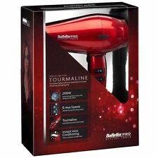 BaByliss Pro Tourmaline Hair Dryer BAB6738RU Red 2100W 6 Heat/Speed Settings NEW