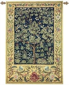 """GARDEN OF DELIGHT ~Large Tapestry, 56"""" x 80"""""""