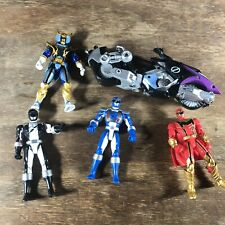 4 Mighty Morphin Power Rangers Action Figures and Motorcycle 2006 Bandai Lot