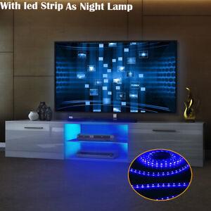 Tasitble Modern 160cm TV Unit Cabinet Stand Cabinet Matt Body High Gloss LED UK