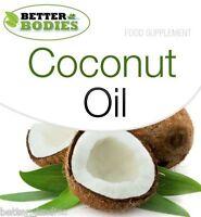 Organic Virgin Coconut Oil 1000mg 360 Capsules Bulk Bag Tablets Better Bodies™