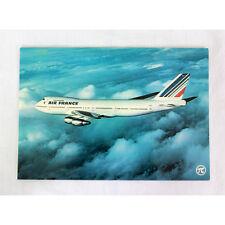 Aire Francia Airlines - Boeing 747-200 - durante el vuelo - Avión Tarjeta postal