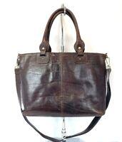Chiarugi Firenze Brown Leather Unisex Messenger Bag