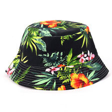 2091c194 Men Women Floral Print Wide Brim Bucket Boonie Hat Hiking Camping Summer  Sun Cap