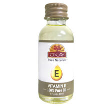 Okay Vitamin E 100% Pure Oil for Moisturizing Damaged Hair & Dry Skin 1oz