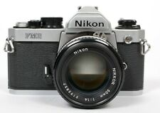 Nikon FM2n 35mm SLR Film Camera with 50mm F1.4 Ai-S Lens + L37 filter HR-1 shade