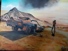 painting #original #MAD MAX #muscle #FURY ROAD #car #FORD FALCON #autoart #retro
