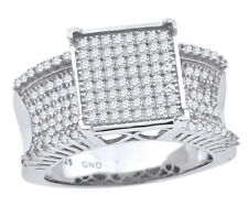 Women's Ladies Female Solid 925 Sterling Silver Cubic CZ Engagement Promise Ring