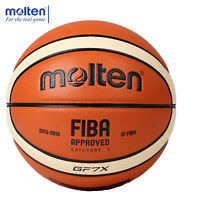 Molten GG7X Offical Men's Size 7 PU Leather In/Outdoor Training Basketball Ball+