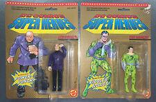 "1989 DC Comics Super Heroes ""The Riddler"" & ""Lex Luthor"" Action Figures, NIP(NR)"