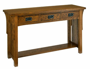 A. A. Laun Arts & Crafts Sofa Table With 3 Drawers #8429  -  ON SALE!!!