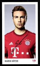 Mario Götze Autogrammkarte Bayern München 2015-16 Original Signiert+ C 2278