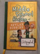 Skylar Diggins signed auto book The Middle School Rules Of Skylar Diggins Wnba