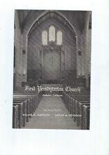 ANAHEIM, CAL. FIRST PRESBYTERIAN CHURCH  JAN, 1ST, 1956 , SERVICE OF WORSHIP