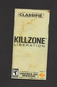 Killzone Liberation PSP MANUAL ONLY Authentic Worn
