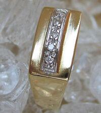 Nice ✪ 4,3 Gr. aus Gold Ring mit ✨0,10 ct.✨ Brillant Diamant Brillanten Diamond