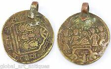 Rare vintage temple token Old collectible ram token amulet pendant. G29-67