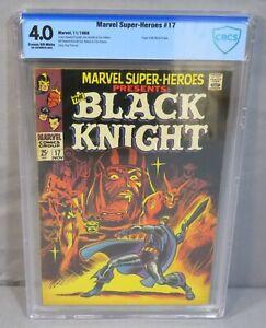 MARVEL SUPER-HEROES #17 (Black Knight Origin) CBCS 4.0 VG 1968 Roy Thomas cgc