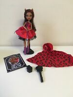 MONSTER HIGH Clawdeen Little Dead Riding Wolf Doll & accessories EUC Complete