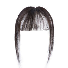 3D Thin Air Bangs Women Invisible Human Hair Flat Fringe Modified Face Hairpiece