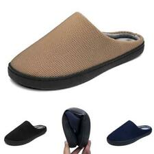 38-47 Mens Fashion Indoor Slippers Soes Winter Warm Fur Lined Comfy Soft Flats B