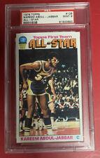 Kareem Abdul Jabbar 1976 Topps PSA 9 Mint All-Star Card Graded Card Vintage