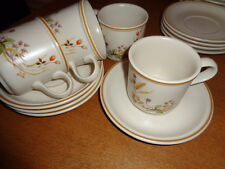 MARKS AND SPENCER HARVEST CUPS AND SAUCERS X 6