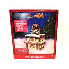 LED Lighting Coca Cola Town Square Collection Revolving Santa Sleigh 2005 CIB