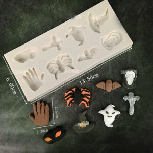 Halloween Ghost Silicone Chocolate Fondant Mold Cake Decorating Topper Mould