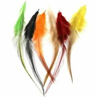Fly Tying Feather Materials Rooster Saddle Hackle Cock Feather Trout Steel Head