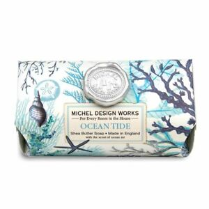Michel Design Works Large 8.7 oz Artisanal Bar Bath Soap Ocean Tide Sea Life