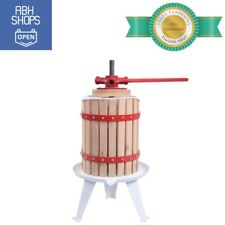 Oak Wood Juice Maker Tool 1.6 Gallon Fruit Wine Cider Manual Press Machine Kit