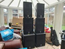 More details for 6 yamaha active speakers = full pa system with leads etc.