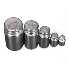 5Pcs 1g 2g 5g 10g 20g gramos Cromo de precisión conjunto de Peso De Calibración Escala (75)