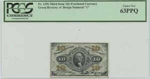 Third Issue 10 Cent FR#1256 Fractional PCGS 63 CH New PPQ