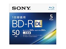 5 Sony BD-R DL 50GB 6x Speed ??3D Bluray Inkjet Printable Discs