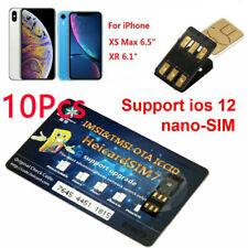 10Pcs NEW Heicard Unlock Turbo Sim Card Nano-SIM For iPhone XS MAX XR 4G iOS 12