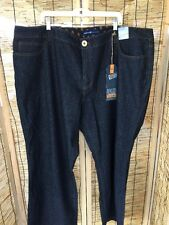 28 Plus Size Dark Blue Boot Cut Jeans Slimming Avenue Woman NWT