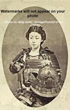 Old/Antique/Vintage 1870s Sexy/Lovely Japanese Geisha/Kabuki Samurai Woman Photo