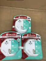 3 Pack First Alert Smoke and Carbon Monoxide Alarm Wireless Communication