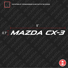 2X  MAZDA CX-3 logo sticker vinyl decal