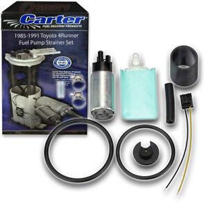 Carter Fuel Pump & Strainer Set for 1985-1991 Toyota 4Runner 2.4L 3.0L L4 V6 xb