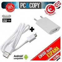 Cargador USB de pared con cable para Samsung Galaxy J5 blanco 5V 1A