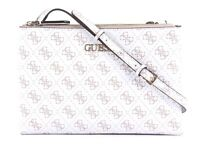 GUESS Sac À Bandoulière Maci Mini Double Zip White