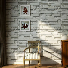 45cm*10m PVC 3D Brick Stone Prepasted Self-adhesive Wallpaper Roll Home Decor