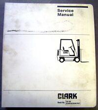 Clark C500-355 Forklift Dealer Overhaul Service Manual - OH 420 - 36/48 Volt